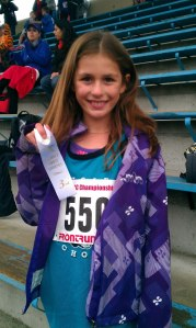 my girl at last fall's District Cross country race.